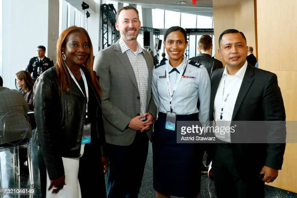 In this image released on May 31 Sandra Lindsay, Michael H. Goldberg, Larissa Niewdach-Ebron , and Juan Serrano attend Northwell Health's 2021 Side...