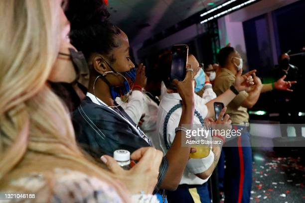 In this image released on May 31 the audience enjoys a performance by NE-YO during Northwell Health's 2021 Side By Side: A Celebration of Service™ on...