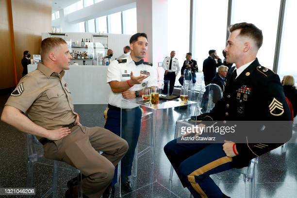 In this image released on May 31 United States Army personnel attend Northwell Health's 2021 Side By Side: A Celebration of Service™ on May 08, 2021...
