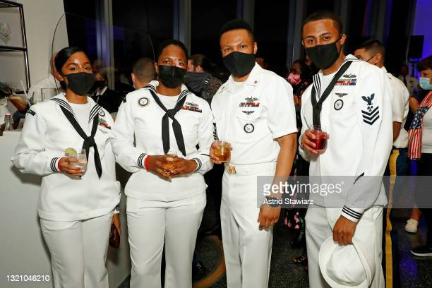 In this image released on May 31 United States Navy personel attend Northwell Health's 2021 Side By Side: A Celebration of Service™ on May 08, 2021...