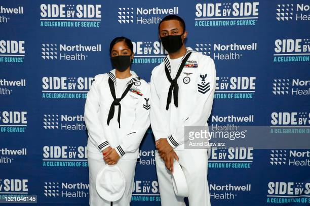 In this image released on May 31 United States Navy personnel attend Northwell Health's 2021 Side By Side: A Celebration of Service™ on May 08, 2021...