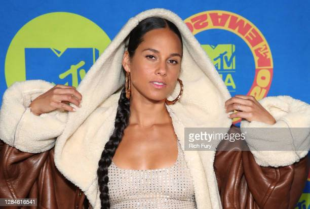 In this image released on November 08, Alicia Keys poses ahead of the MTV EMA's 2020 on November 01, 2020 in Los Angeles, California. The MTV EMA's...