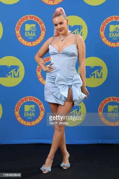 In this image released on November 08, Anne Marie poses ahead of the MTV EMA's 2020 on October 31, 2020 in London, England. The MTV EMA's aired on...