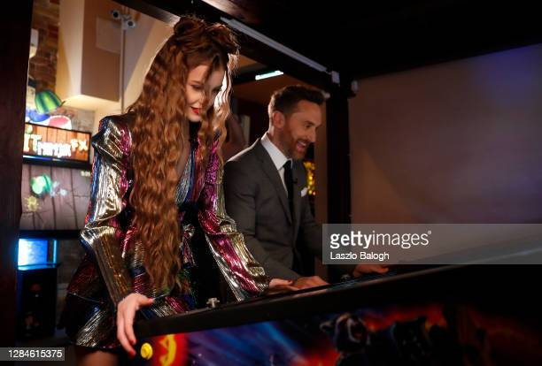 In this image released on November 08, Barbara Palvin and David Guetta pose ahead of the MTV EMA's 2020 on October 25, 2020 in Budapest, Hungary. The...