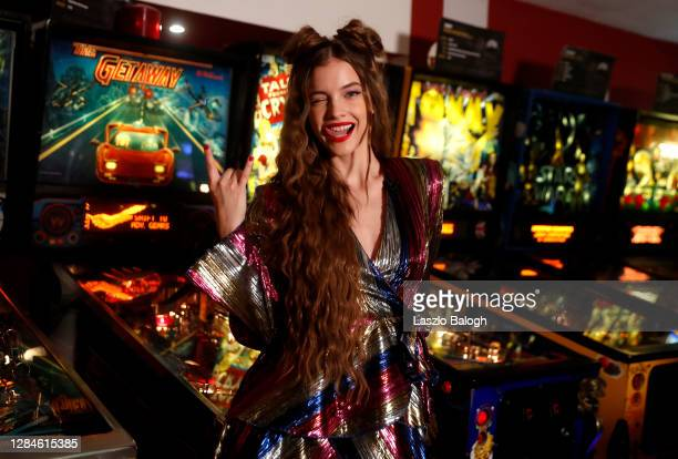In this image released on November 08, Barbara Palvin poses ahead of the MTV EMA's 2020 on October 26, 2020 in Budapest, Hungary. The MTV EMA's aired...