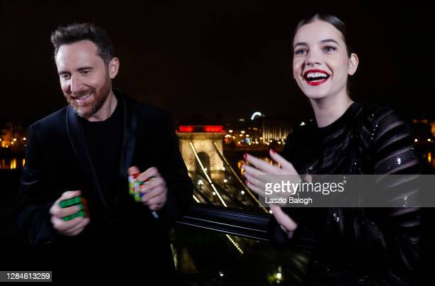In this image released on November 08, David Guetta and Barbara Palvin pose ahead of the MTV EMA's 2020 on October 25, 2020 in Budapest, Hungary. The...
