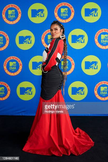 In this image released on November 08, Karol G poses ahead of the MTV EMA's 2020 on October 23, 2020 in Miami, Florida. The MTV EMA's aired on...