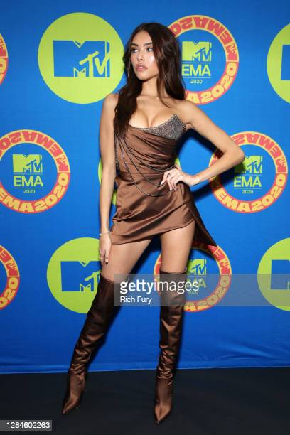In this image released on November 08, Madison Beer poses ahead of the MTV EMA's 2020 on October 30, 2020 in Los Angeles, California. The MTV EMA's...