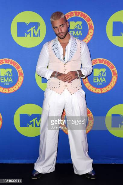 In this image released on November 08, Maluma poses ahead of the MTV EMA's 2020 on October 23, 2020 in Miami, Florida. The MTV EMA's aired on...