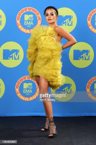 In this image released on November 08, Rita Ora poses ahead of the MTV EMA's 2020 on November 01, 2020 in London, England. The MTV EMA's aired on...