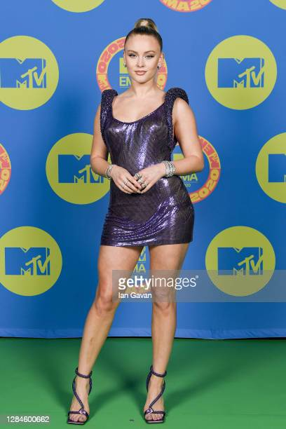 In this image released on November 08, Zara Larsson poses ahead of the MTV EMA's 2020 on October 31, 2020 in London, England. The MTV EMA's aired on...
