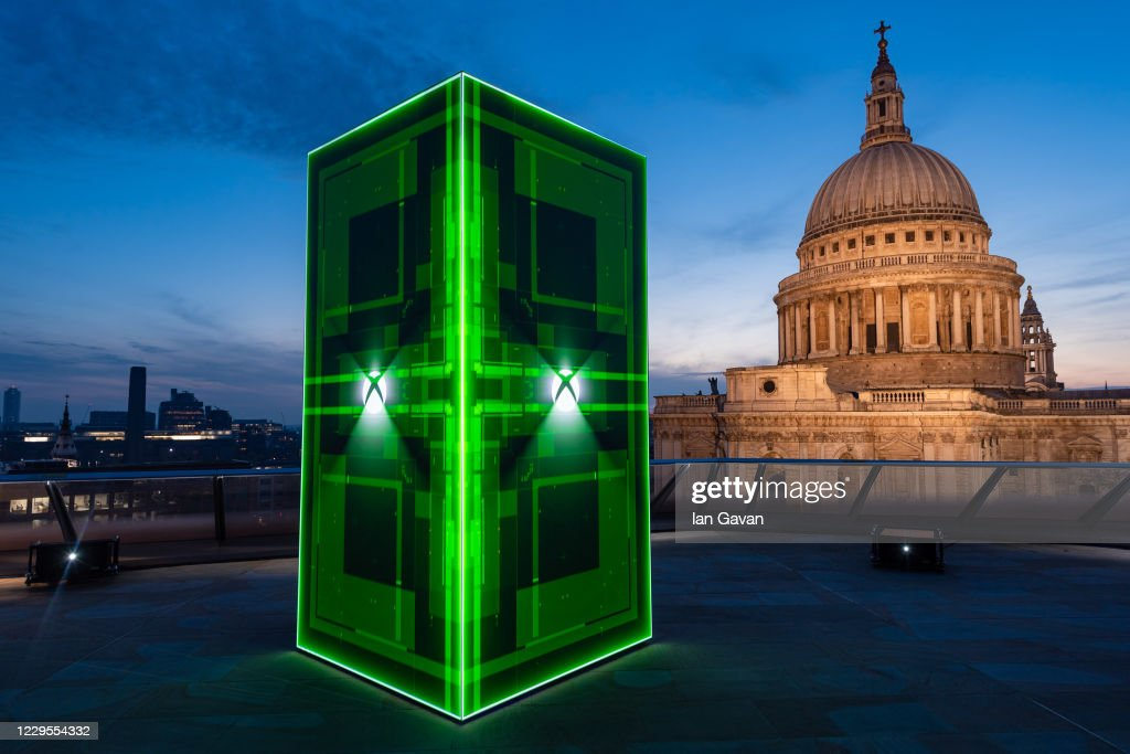 Xbox Launches The Xbox Series X In The UK With A Spectacular Holographic Installation : News Photo