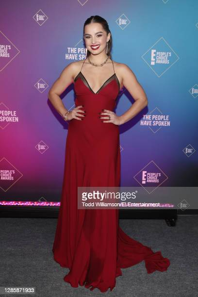 In this image released on November 15, Addison Rae attends the 2020 E! People's Choice Awards held at the Barker Hangar in Santa Monica, California...