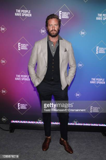 In this image released on November 15, Armie Hammer attends the 2020 E! People's Choice Awards held at the Barker Hangar in Santa Monica, California...