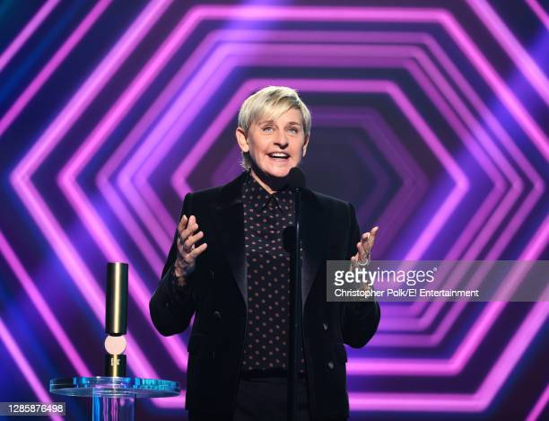 In this image released on November 15, Ellen DeGeneres accepts the award for The Daytime Talk Show of 2020 onstage for the 2020 E! People's Choice...