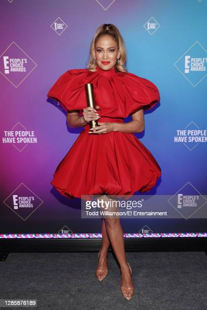 In this image released on November 15, Jennifer Lopez, People's Icon of 2020, attends the 2020 E! People's Choice Awards held at the Barker Hangar in...