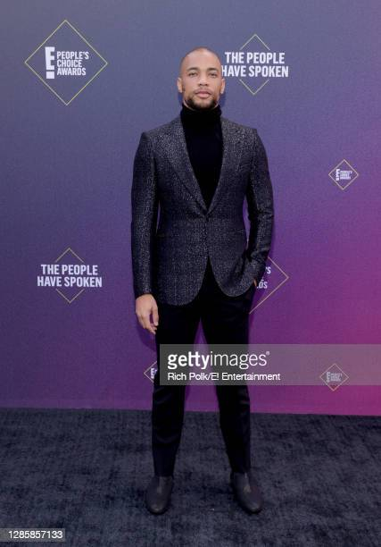 In this image released on November 15, Kendrick Sampson arrives at the 2020 E! People's Choice Awards held at the Barker Hangar in Santa Monica,...