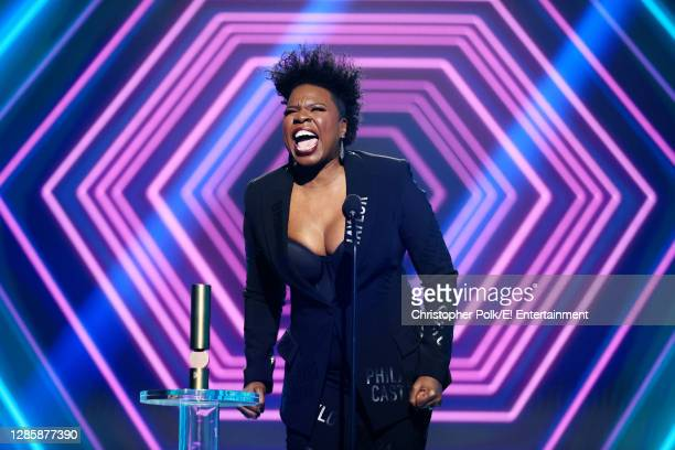 In this image released on November 15, Leslie Jones, The Comedy Act of 2020, accepts the award onstage for the 2020 E! People's Choice Awards held at...