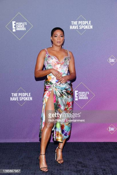 In this image released on November 15, Tiffany Haddish arrives at the 2020 E! People's Choice Awards held at the Barker Hangar in Santa Monica,...