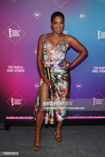 In this image released on November 15, Tiffany Haddish, The Female Movie Star of 2020, attends the 2020 E! People's Choice Awards held at the Barker...