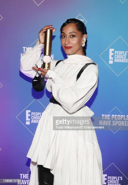 In this image released on November 15, Tracee Ellis Ross, winner of the Fashion Icon Award, attends the 2020 E! People's Choice Awards held at the...