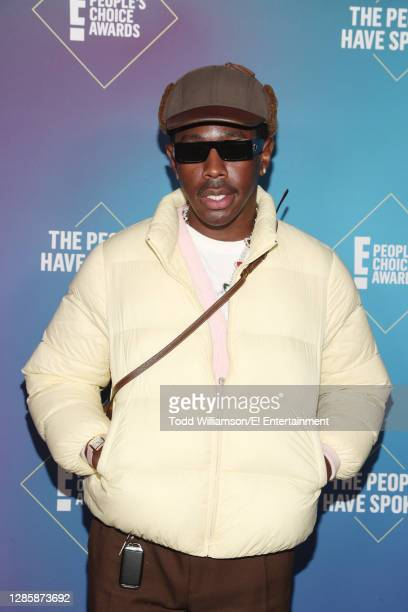 In this image released on November 15, Tyler, The Creator attends the 2020 E! People's Choice Awards held at the Barker Hangar in Santa Monica,...