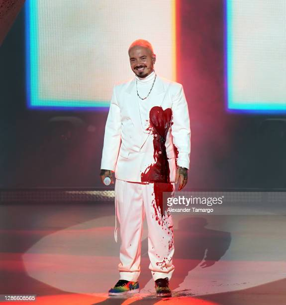 In this image released on November 19 J Balvin performs at the 2020 Latin GRAMMY Awards on November 15, 2020 in Miami, Florida. The 2020 Latin...