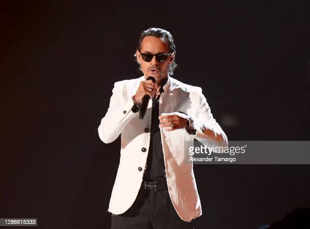 In this image released on November 19 Marc Anthony performs at the 2020 Latin GRAMMY Awards on November 16, 2020 in Miami, Florida. The 2020 Latin...