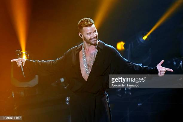 In this image released on November 19 Ricky Martin performs at the 2020 Latin GRAMMY Awards on November 16, 2020 in Miami, Florida. The 2020 Latin...