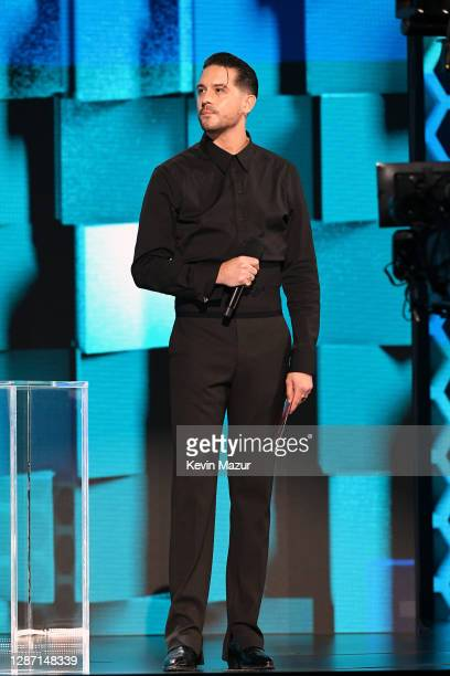 In this image released on November 22 GEazy speaks onstage for the 2020 American Music Awards at Microsoft Theater on November 22 2020 in Los Angeles...