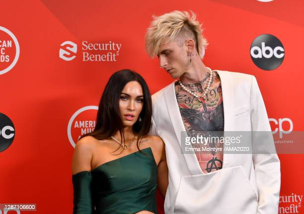 In this image released on November 22, Megan Fox and Machine Gun Kelly attend the 2020 American Music Awards at Microsoft Theater on November 22,...