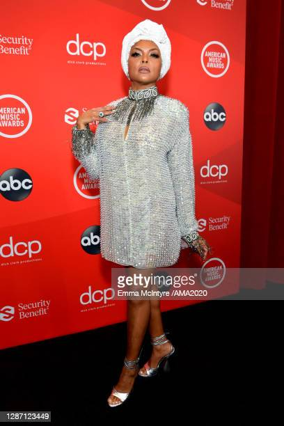 In this image released on November 22, Taraji P. Henson attends the 2020 American Music Awards at Microsoft Theater on November 22, 2020 in Los...