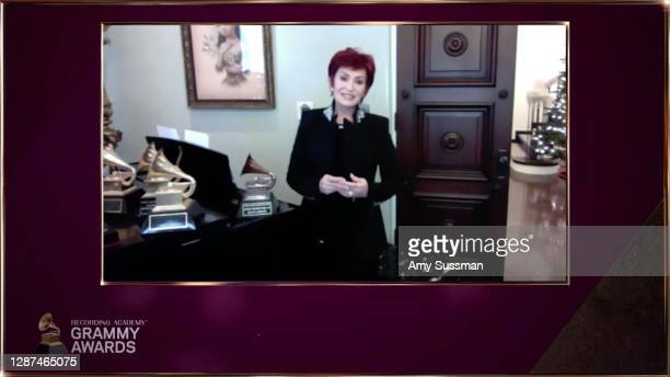 In this image released on November 24th, Sharon Osbourne speaks during the 63rd Annual GRAMMY Awards Nominees Announcement.
