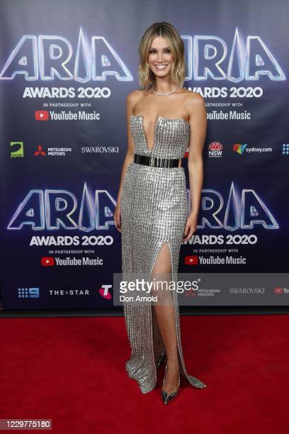 In this image released on November 25 Delta Goodrem attends the 2020 ARIA Awards at The Star on November 24 2020 in Sydney Australia