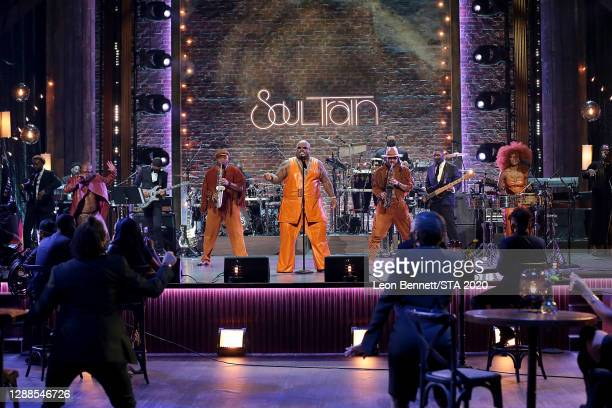 In this image released on November 29th, CeeLo Green performs the 2020 Soul Train Awards presented by BET.