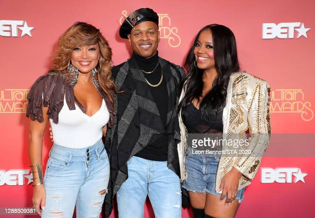 In this image released on November 29th, Chanté Moore, Stokley Williams and Shanice attends the 2020 Soul Train Awards presented by BET.