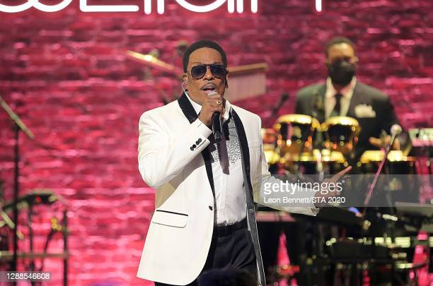 In this image released on November 29th, Charlie Wilson performs during the 2020 Soul Train Awards presented by BET.