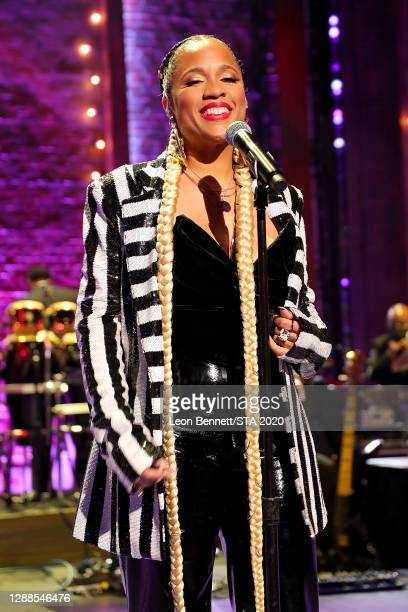 In this image released on November 29th, Ella Nicole performs during the 2020 Soul Train Awards presented by BET.
