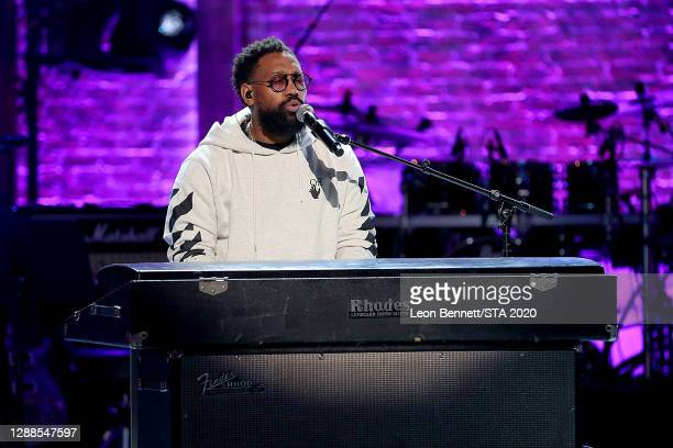 In this image released on November 29th, PJ Morton performs at the 2020 Soul Train Awards presented by BET.