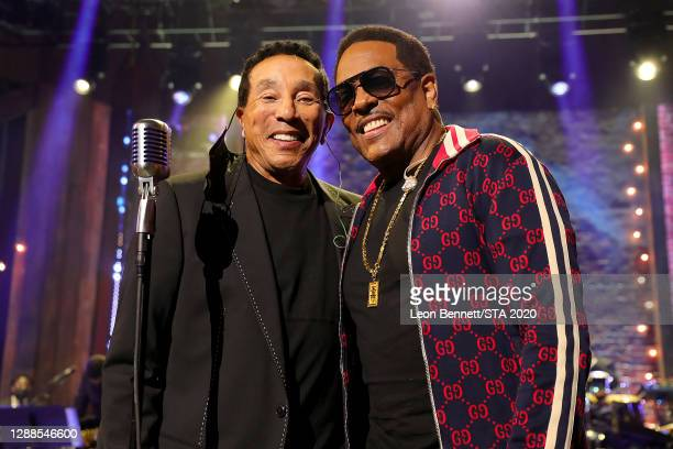 In this image released on November 29th, Smokey Robinson and Charlie Wilson attend the 2020 Soul Train Awards presented by BET.