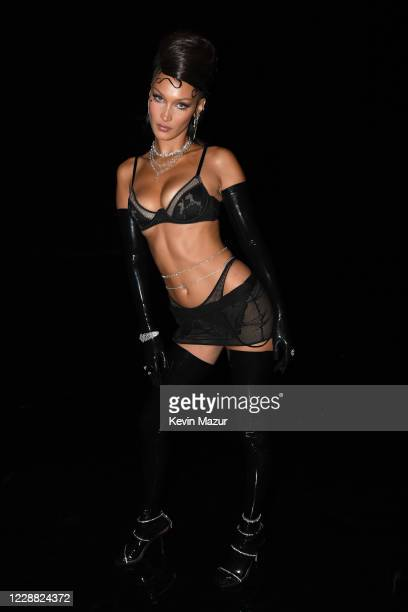 In this image released on October 1 Bella Hadid is seen onstage during Rihanna's Savage X Fenty Show Vol 2 presented by Amazon Prime Video at the Los...