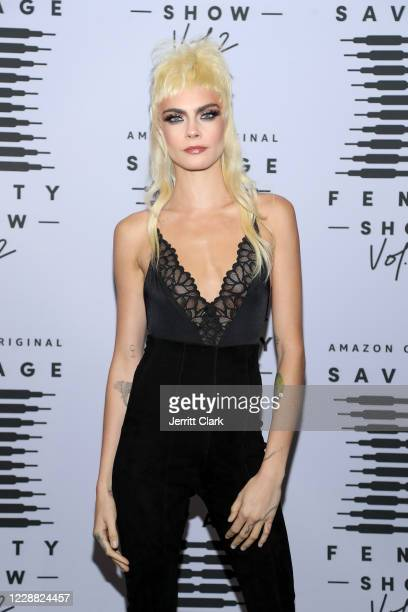 In this image released on October 1 Cara Delevingne attends Rihanna's Savage X Fenty Show Vol 2 presented by Amazon Prime Video at the Los Angeles...