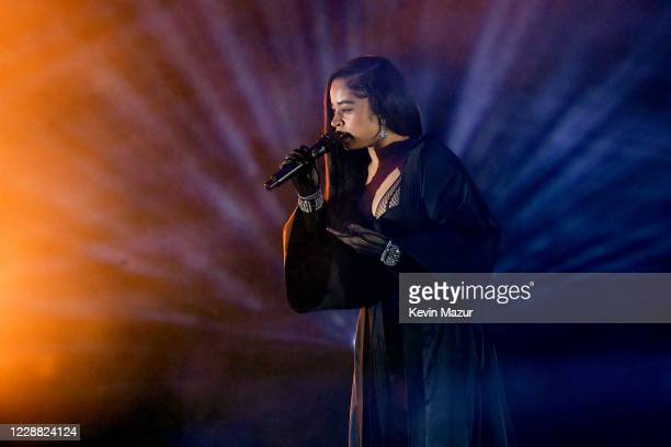 In this image released on October 1 Ella Mai performs onstage during Rihanna's Savage X Fenty Show Vol 2 presented by Amazon Prime Video at the Los...