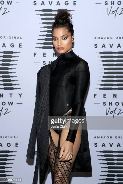 In this image released on October 1 Indya Moore attends Rihanna's Savage X Fenty Show Vol 2 presented by Amazon Prime Video at the Los Angeles...