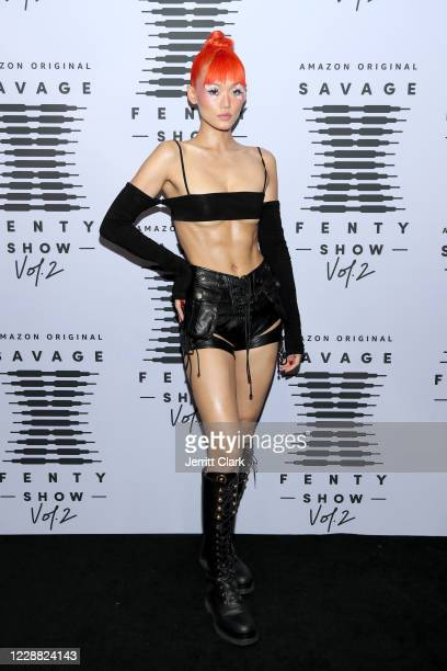 In this image released on October 1 Kitty Louvit attends Rihanna's Savage X Fenty Show Vol 2 presented by Amazon Prime Video at the Los Angeles...