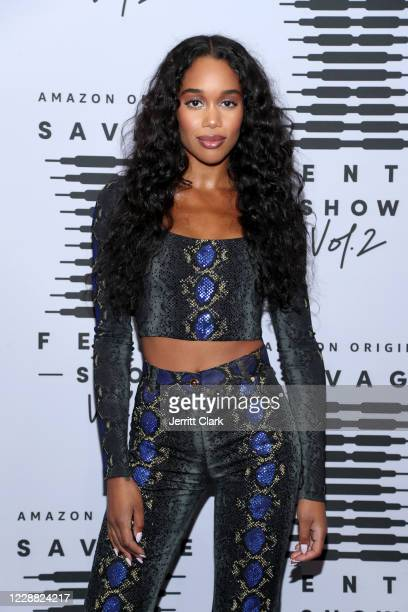 In this image released on October 1 Laura Harrier attends Rihanna's Savage X Fenty Show Vol 2 presented by Amazon Prime Video at the Los Angeles...