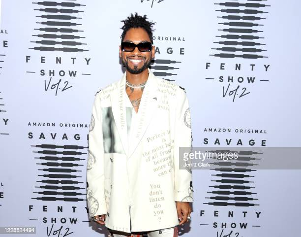 In this image released on October 1 Miguel attends Rihanna's Savage X Fenty Show Vol 2 presented by Amazon Prime Video at the Los Angeles Convention...