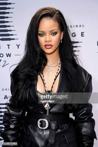 In this image released on October 1, Rihanna attends the second press day for Rihanna's Savage X Fenty Show Vol. 2 presented by Amazon Prime Video at...