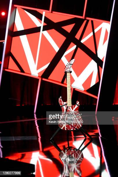 In this image released on October 14 a view of Eddie Van Halen's guitar onstage at the 2020 Billboard Music Awards broadcast on October 14 2020 at...