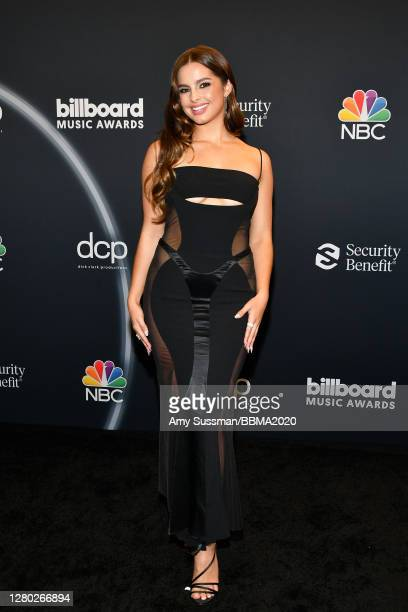 In this image released on October 14, Addison Rae poses backstage at the 2020 Billboard Music Awards, broadcast on October 14, 2020 at the Dolby...